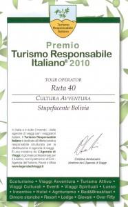 Premio Turismo Responsabile 2010 > Ruta 40 Tour Operator